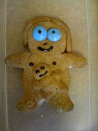 Gingerbread mum and baby