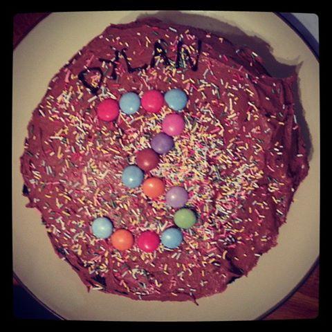 Dylan's third birthday cake