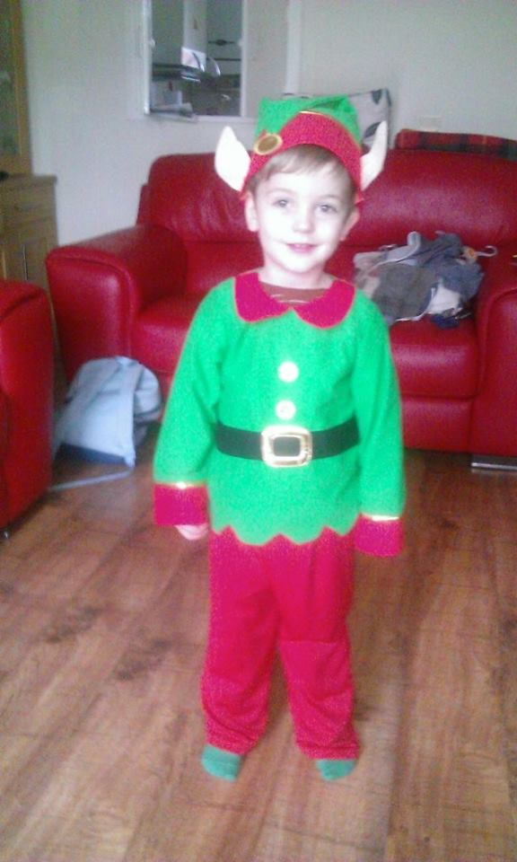 Dylan as elf Xmas 2013
