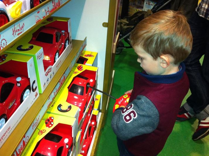 Dylan in Hamley's Toy Shop - 02-11-2013