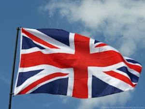 Union Jack waving